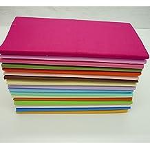 "17pcs/lot 18"" x 22"" Fat Quarter Bright Solid Bundles Quilting Fabric for Quilting Sewing DIY Craft"