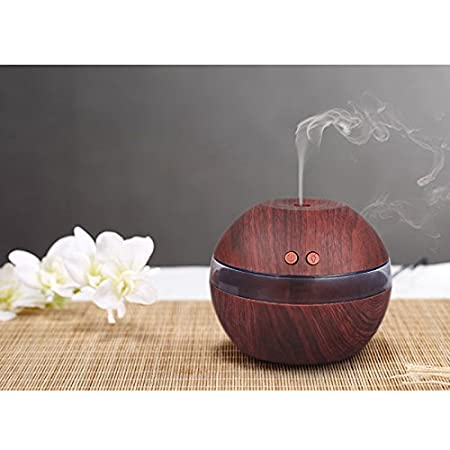 Light Wood Color TiooDre Diffusori aromaterapia USB Bianco Grana del legno Aroma Diffusore a ultrasuoni portatili Air Aroma Oli Essenziali Diffusore umidificatore nebbia per il Ministero