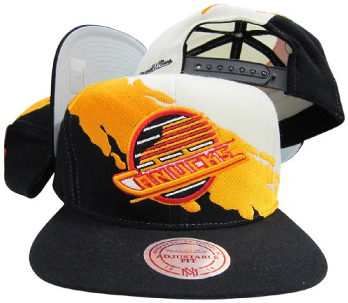 505d7193812 Mitchell   Ness Vancouver Canucks Snapback Adjustable Plastic Snap Hat Cap