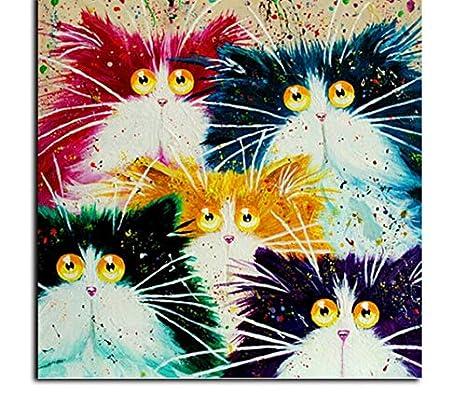 Puzzle 1000 Piezas En gatos de colores DIY rompecabezas de ...