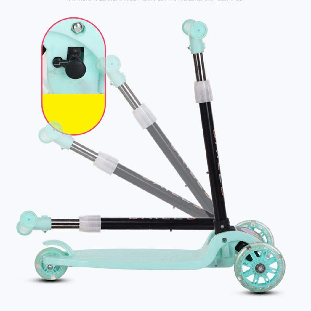 Gfone Durable Portable Folding With Flash Light Sliding Children Scooter Kick Scooters