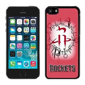 New Custom Design Cover Case For iPhone 5C Generation houston rockets 1 Black Phone Case