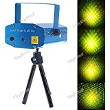 Tiny Deal Sound Activated Disco Music Stage Mini Laser Projector Light with Red Green Light for Party Disco Club FLP-203969