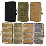 """Molle Pouches - Compact Water-resistant Multi-purpose Tactical EDC Utility Gadget Gear Hanging Waist Bags (L 4.5"""" X H 8.5""""- ACU, Tactical Pouches)"""