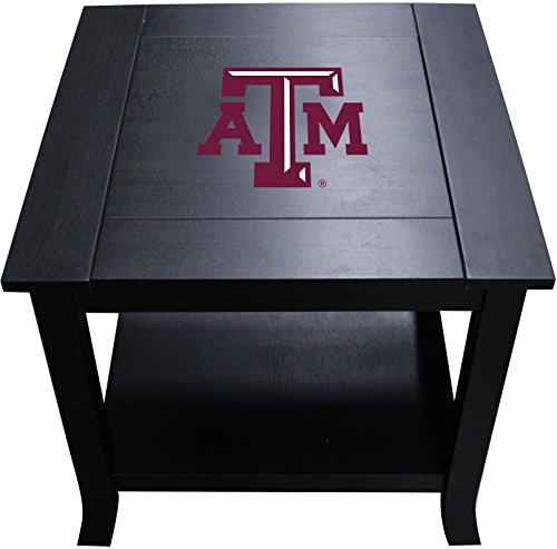 Imperial Officially Licensed NCAA Furniture: Hardwood Side/End Table, Texas A&M Aggies