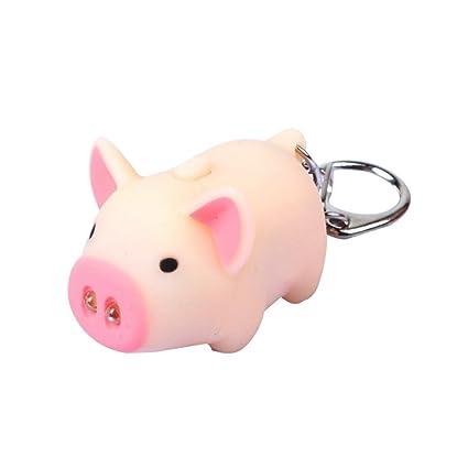 Sunwords - Llavero y colgante con diseño de cerdo: Amazon.es ...