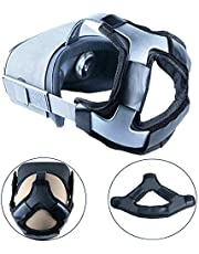 Esimen (Upgrade) Head Strap Pad for Oculus Quest Virtual Reality VR Headset Cushion Headband Fixing Accessories, Comfortable PU Leather & Reduce Head Pressure (Blakc)
