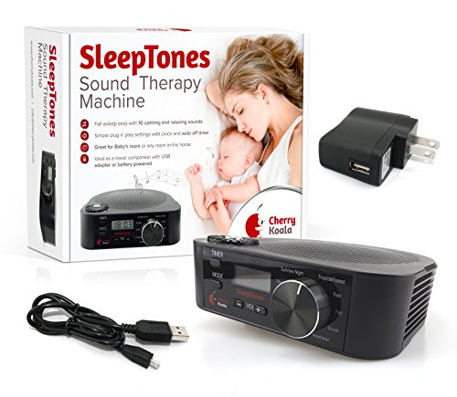 cherry koala white noise sound therapy machine for sleep 10 all natural soothing and relaxing. Black Bedroom Furniture Sets. Home Design Ideas
