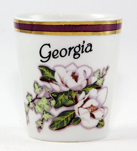 Georgia Vintage Marble Magnolia Shot Glass (Shot Glass Georgia)