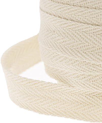 JJPRIME Cinta de costura de algodón, tela de sarga en espiga, 25 ...