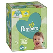 Pampers Baby Wipes Complete Clean Unscented 10X Refills, 720 Count