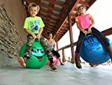 WALIKI TOYS Hopper Ball For Kids Ages 7-9 (Hippity Hop Ball, Hopping Ball, Bouncy Ball With Handles, Sit & Bounce, Kangaroo Bouncer, Jumping Ball, 20 Inches, Green, Pump Included)