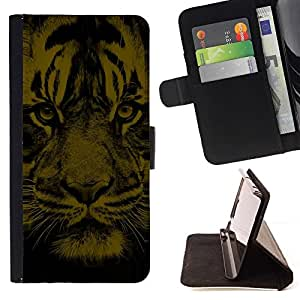 BETTY - FOR Samsung Galaxy S3 III I9300 - Tiger Face - Style PU Leather Case Wallet Flip Stand Flap Closure Cover