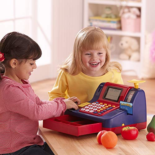 Learning Resources Pretend & Play Teaching Cash Register, Talking Register, Counting Activities, Money Management, 73…