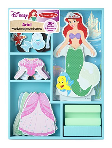 Melissa & Doug Disney Ariel Magnetic Dress-Up Wooden Doll Pretend Play Set (30+ pcs)