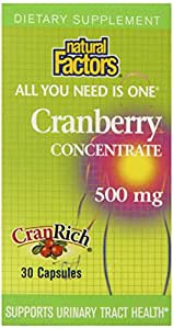 Natural Factors Cranberry Extract with Cranrich Capsules, 30-Count