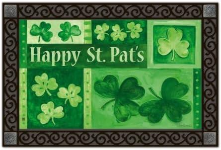 30 x 18 Lang 3210032 St Patricks Day Door Mat by Joy Hall