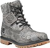Timberland Womens 6 Inch Premium Combat Boot, Dark Grey Henna/Tornado, Size 9.5