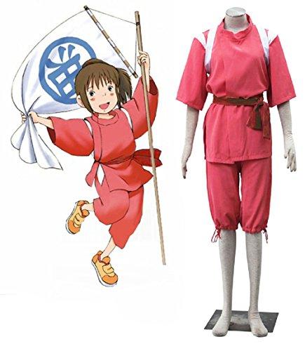 [Mocona Spirited Away Cosplay Ogino Chihiro Costume kimono Suit] (Chihiro Cosplay Costume)