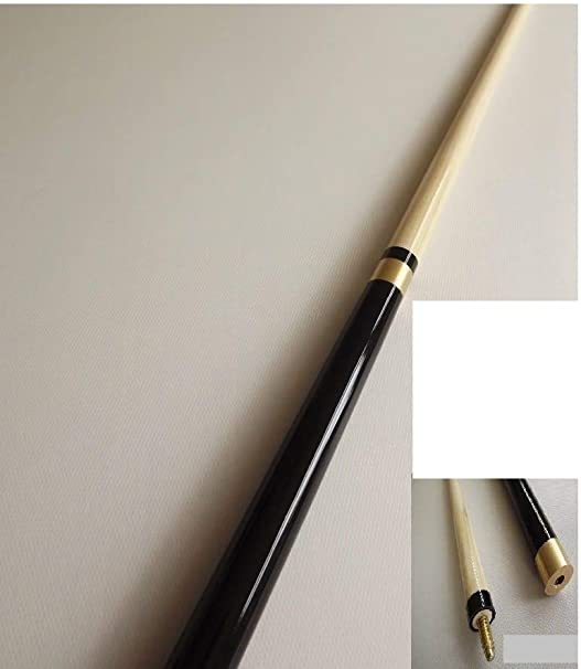 Snooker Cue IQGAMESROOM full size 2 Piece Pool 11mm screw on tip with soft Carrying Case