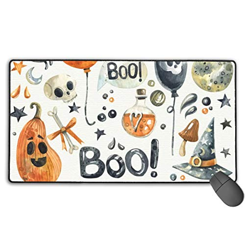 GGlooking Mousemat Halloween Mouse Pad Gaming Mat Computer Mousepad Large Non-Slip Keyboard Desk Accessories,Office & School Supplies -