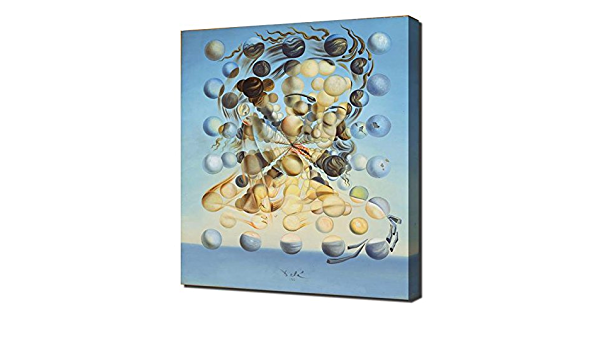 No Frame 40x60cm XIXISA Famous Painting Salvador Dali Galatea Spheres Oil Painting Canvas Painting Wall Art for Living Room Home Decor