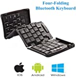 E-More Full-sized GK308E Portable Foldable Wireless Bluetooth Keyboard For IOS Phone Pad Windows Android Symbian Tablet /Smartphone/Computer