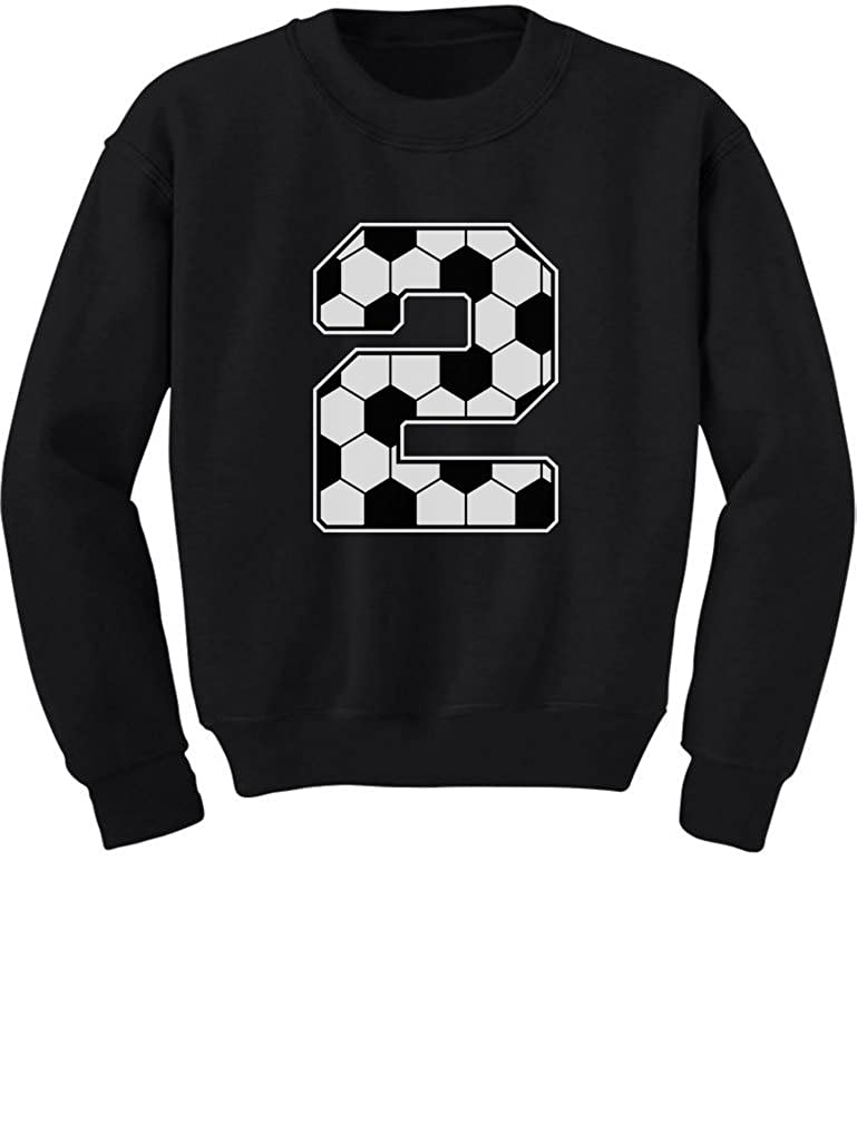 Tstars 2nd Birthday Gift 2 Year Old Soccer Fan Toddler//Kids Sweatshirt