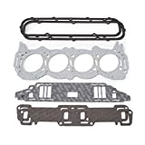 Edelbrock 7369 Cylinder Head Gasket Set Incl. Intake/Exhaust/Head/Waterneck/Distributor/Valve Cover Gaskets Cylinder Head Gasket Set