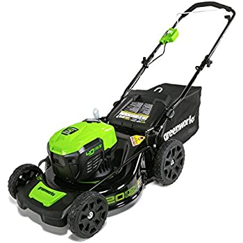 GreenWorks MO40L00 G-MAX 40V 20'' Brushless Dual Port Lawn Mower, Battery and Charger Not Included