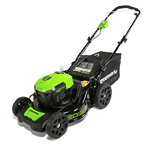 Greenworks MO40L00 G-MAX 40V 20'' Brushless Dual Port Law...