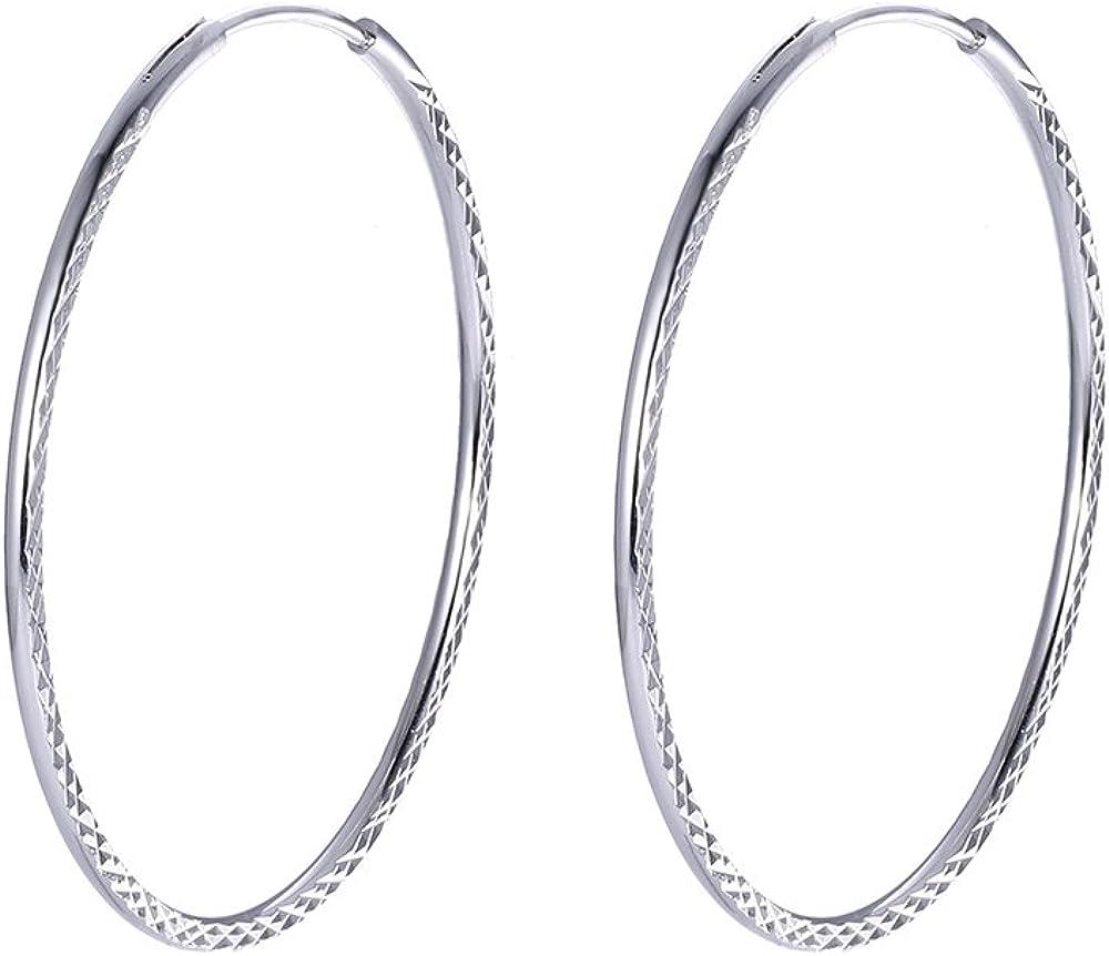 Xuping Boucles doreilles cr/éoles /à tige plaqu/ées or platine pour femme