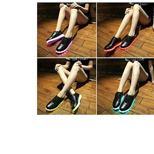 [Present:kleines Handtuch]JUNGLEST® Lackleder High-Top 7 Farbe LED Leuchtend Sport Schuhe Glow Sneakers USB Aufladen Turnschuhe für Unisex Herren Dam c3