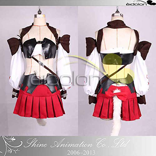 Final Fantasy XIV Miqo'te Cosplay Halloween Costume Game for Cosplay Show Party Women Girl,M -