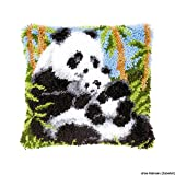 Vervaco Panda Latch Hook Cushion Kit, Multi-Colour