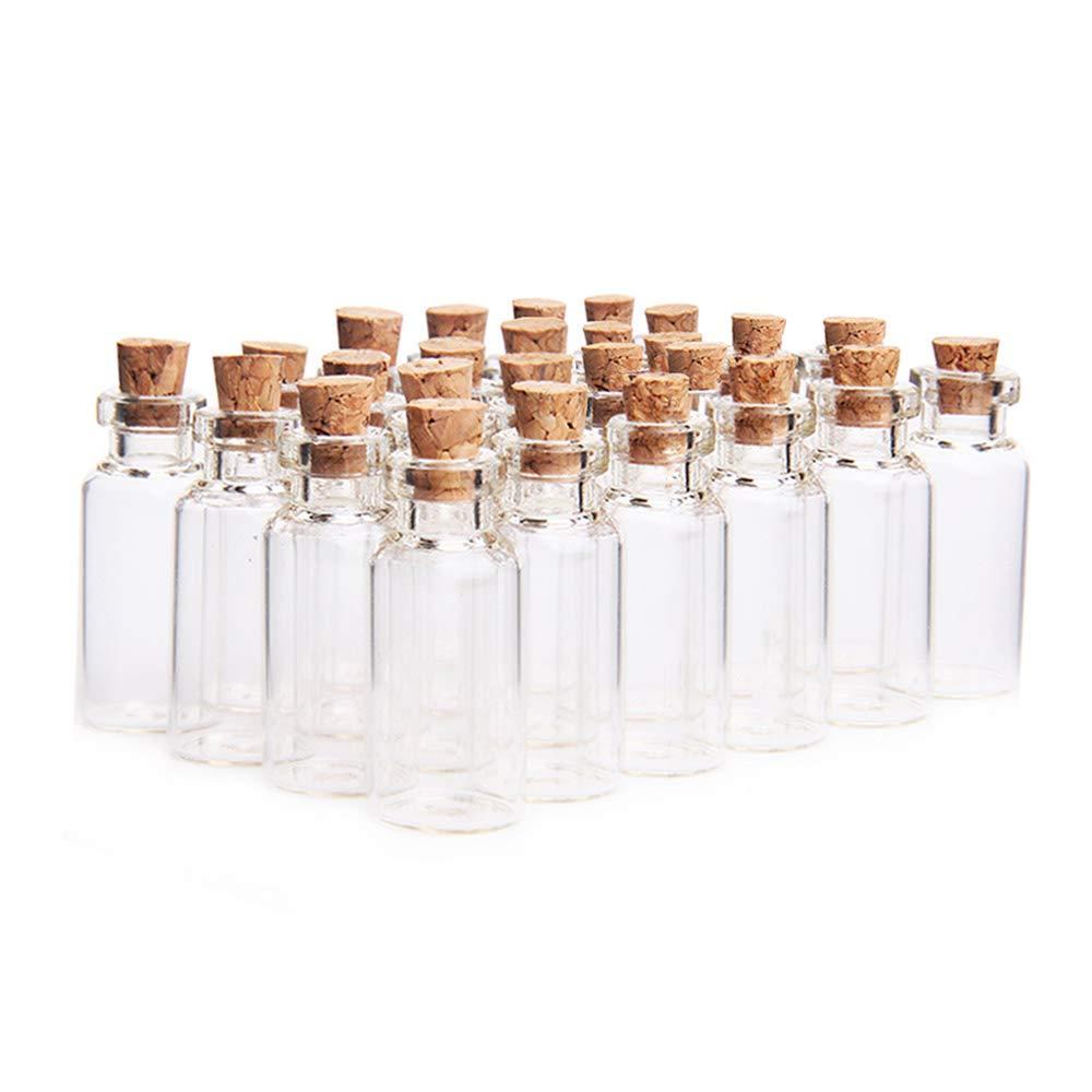 danmu Art - Juego de 5 ml Claro botellas de vidrio tarros ...
