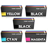 Prestige Cartridge C1660 Lot de 5 Cartouches de Toner pour Dell C1660W/C1660CN/C1660CNW - Couleurs Assorties