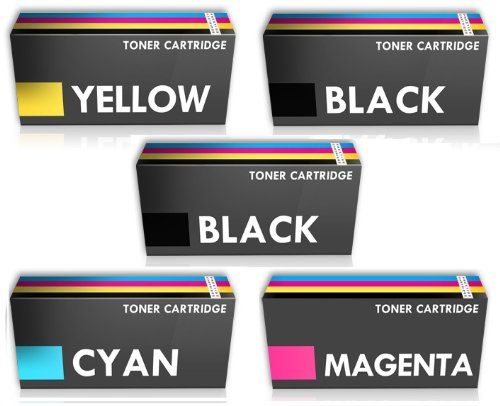 Prestige Cartridge TN326 Tonerkartuschen für Brother DCP-L8450CDW MFC-L8600CDW MFC-L8850CDW, 5-er Multipack, farbig sortiert