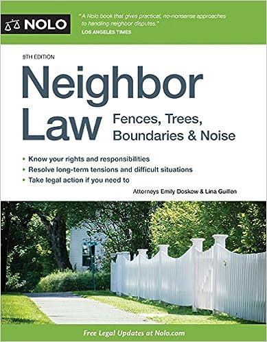 Amazon neighbor law fences trees boundaries noise neighbor law fences trees boundaries noise ninth edition spiritdancerdesigns Image collections