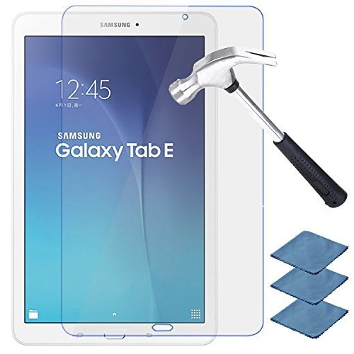 EEEKit Premium HD Tempered Glass Screen Protector Film Guard Skin for Samsung Galaxy Tab E 9.6 inch (Fit SM-T560 SM-T561 SM-T560NU SM-T567)