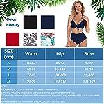 Tuopuda-Donna-Costume-da-Bagno-Due-Pezzi-Vita-Alta-Retro-Bikini-Push-Up-Regolabile-Costumi-da-Bagno-Ruffled-Beachwear-Swimsuit