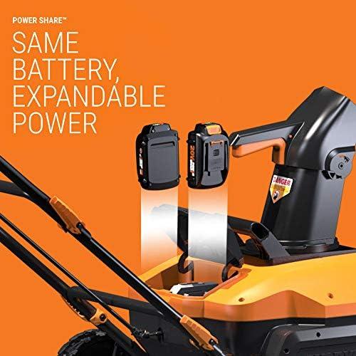 WORX WG471 40V Power Share Snow Blower, Black and Orange