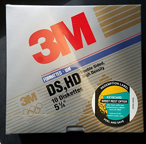 3M Imation Diskettes 5 1/4'' 10 per package Double Sided High Density by Imation