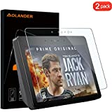 """Aolander Screen Protector for All-New Echo Show (2nd Gen) 10.1"""" 2018 2.5D Round Edge High Definition Screen Protector (2-Pack)"""