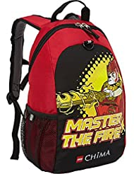 Lego Backpack Master of Fire Chima Childs Full Size Black and Red