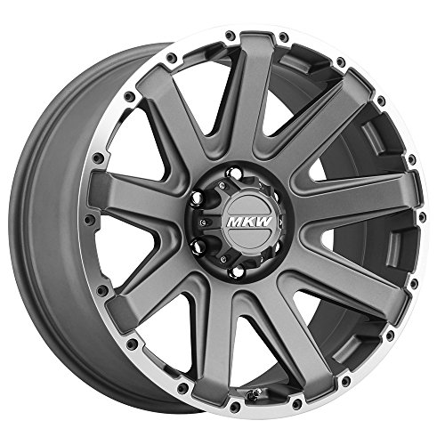 MKW Offroad M94 Satin Grey Wheel with Machined Finish and Machined Outer Ring (18x9