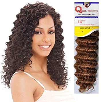 Amazon.com : Human Hair Master Mix Weave Milky Way Que Deep Wave ...