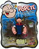 Popeye the Sailor Man Classic Action Figure with Shipwreck Deck, Spinach Can and Telescope. 2004 Mezco Toyz