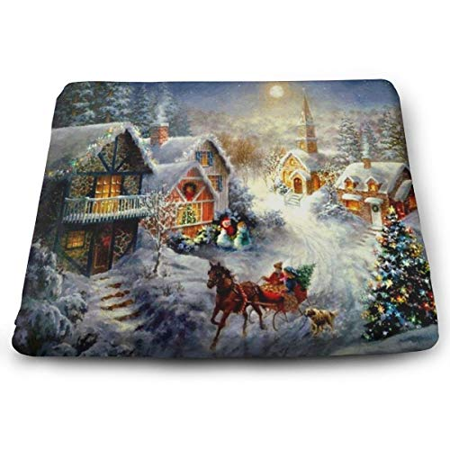 Seat Cushion Christmas Snow Night Chair Cushion Great Offices Butt Chair Pads for Cars