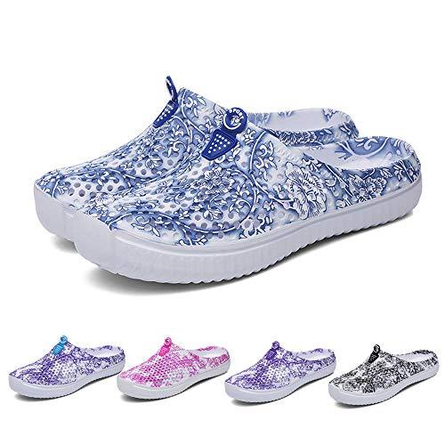 Sunmoot Beach Clog Shoes Slip On Garden Footwear Water Bash Womens Summer Casual Slippers Flip Flops Black by Sunmoot (Image #5)